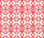 Vector knitted Christmas seamless pattern. New Year pixel endless texture. Nativity background. Royalty Free Stock Photography