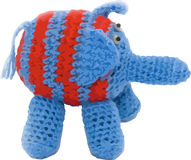Vector knitted elephant stock photography