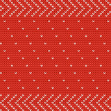 Vector knitted seamless background. Stock Image