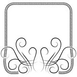 Vector knitting frame decorated with swirls. illustration on white Stock Photography