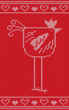 Vector knitting 2017 New Year symbol, red fire rooster. Knitting 2017 New Year symbol, red fire rooster. Vector illustration Royalty Free Stock Photos