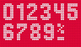 Vector knitting numerals for sale Stock Photo