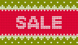 Vector knitting sale ornament label Stock Photography