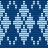 Vector knitting seamless background: argyle pattern Royalty Free Stock Images