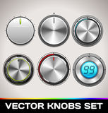 Vector Knobs Set Stock Image