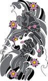 Vector koi fish tattoo. Royalty Free Stock Images