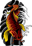 Vector koi fish tattoo. Royalty Free Stock Image