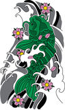 Vector koi fish tattoo. Royalty Free Stock Photography