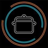 Vector kokende pottenillustratie - keuken vector illustratie