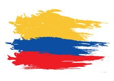 Vector Kolumbien-Flagge, Kolumbien-Flaggenillustration, Kolumbien-Flaggenbild, Kolumbien-Flagge vektor abbildung