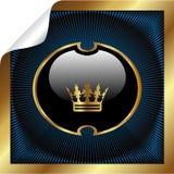 Vector koninklijk etiket royalty-vrije illustratie