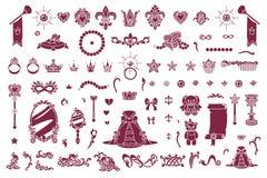 Vector koninklijke juweleninzameling stock illustratie
