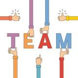 Vector Konzept der kreativen Teamwork in der flachen Entwurfsart vektor abbildung
