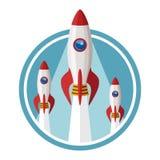 Vector Konzept von beginnen oben neues Geschäftsprojekt lizenzfreie abbildung