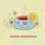 Vector kop thee met citroen Royalty-vrije Stock Foto's