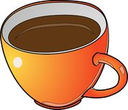 Vector kop van koffie royalty-vrije illustratie