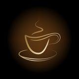 Vector kop van koffie Royalty-vrije Stock Foto's