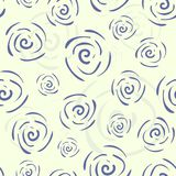 Vector krabbel naadloos patroon met bloemen Stock Fotografie