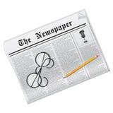 Vector krant Royalty-vrije Stock Fotografie