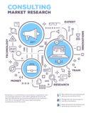 Vector kreative Konzeptillustration von Diagrammgeschäftsprojekt w Lizenzfreies Stockfoto