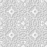 Vector Kunstmusterhintergrund 236 des Papiers 3D des Damastes nahtlose Kurven-Querfeld Lizenzfreies Stockbild