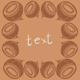 Vector Kunstrahmenverzierung mit Raum für Text Lizenzfreies Stockfoto