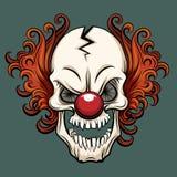 Vector kwade clown stock illustratie