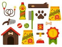 Vector l'accessorio canino di razza del purosangue dell'illustrazione dell'animale domestico felice attento tedesco divertente de illustrazione di stock