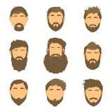 Vector l'acconciatura degli uomini, l'illustrazione, capelli su fondo bianco Fotografie Stock