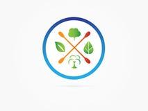 Vector l'albero verde di opzione dell'illustrazione nell'icona del cerchio Immagini Stock Libere da Diritti
