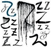 Vector le lettere dell'alfabeto scritto con un brus Fotografie Stock Libere da Diritti