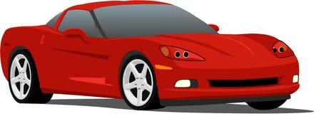 Vector l'automobile sportiva del Corvette Immagini Stock Libere da Diritti