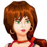 Vector l'avatar del carattere del pirata della ragazza sull'isolato su Fotografia Stock