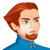 Vector l'avatar del carattere un uomo con una barba sopra Fotografia Stock Libera da Diritti