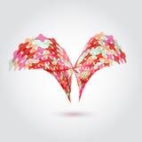 Vector l'elemento astratto di logo di affari dei punti 3d per Fotografie Stock
