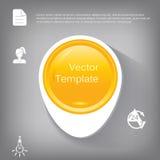 Vector l'elemento lucido di plastica del cerchio 3d per infographic Immagini Stock Libere da Diritti