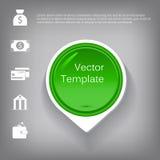 Vector l'elemento lucido di plastica del cerchio 3d per infographic Fotografia Stock