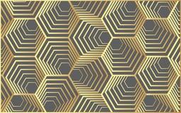 Vector l'esagono moderno del modello della geometria, il fondo geometrico dell'estratto, la stampa d'avanguardia, la retro strutt Immagini Stock Libere da Diritti