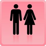 Vector l'icona della donna & dell'uomo illustrazione di stock