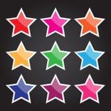 Vector l'icona della stella per progettazione e lavoro creativo Fotografia Stock