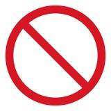 Vector l'icona di arresto, il passaggio proibito, l'icona del fanale di arresto, nessun segno dell'entrata su fondo bianco, il lo illustrazione vettoriale
