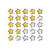 Vector l'icona di esame del cliente del fumetto nello stile comico Le stelle allineano la c illustrazione vettoriale