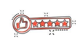 Vector l'icona di esame del cliente del fumetto nello stile comico Pollice su spirito royalty illustrazione gratis