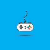 Vector l'icona di gamepad per giocare la stazione su fondo verde Immagine Stock Libera da Diritti