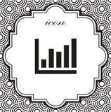 Vector l'icona infographic, grafico su un fondo geometrico Fotografia Stock