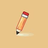Vector l'icona in matita di linework di stile su fondo leggero Fotografie Stock Libere da Diritti