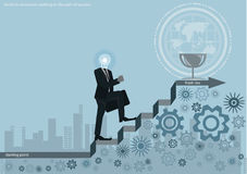 Vector l'idea di affari di concetto di lampo di genio, l'innovazione e la soluzione creative, progettazione piana di progettazion Immagine Stock Libera da Diritti