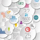 Vector l'illustrazione astratta del fondo dei cerchi/modello infographic illustrazione di stock