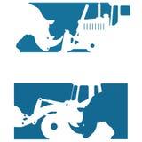 Vector l'illustrazione che consiste di due immagini che mostrano la siluetta di un rinoceronte royalty illustrazione gratis