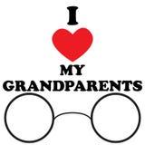 Vector l'illustrazione con amore dell'iscrizione I i miei nonni Fotografie Stock Libere da Diritti
